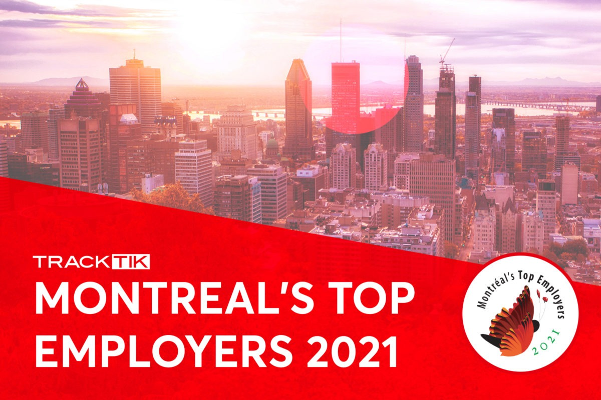 TrackTik Software Named One of Montreal's Top Employers for 2021